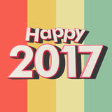 Happy 2017 multicolored stripes Stock Photo