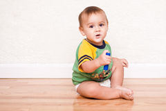 Happy multicultural toddler boy Royalty Free Stock Photos