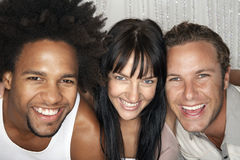 Happy Multiethnic Friends Smiling Stock Photography