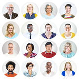 Happy Multiethnic Group of Peoples' Headshot Royalty Free Stock Images