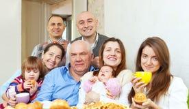 Happy multigeneration family Royalty Free Stock Photography