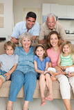 Happy multigeneration family at home Stock Photos