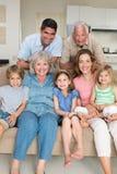 Happy multigeneration family at home Stock Photos