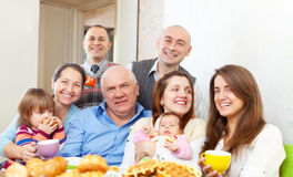 Happy multigeneration family Royalty Free Stock Image