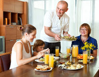 Happy multigeneration family together at home Royalty Free Stock Photography