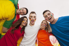 Happy multinational people Stock Photography
