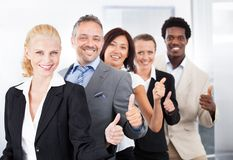 Happy multiracial businesspeople Stock Images