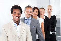 Happy multiracial businesspeople Royalty Free Stock Images