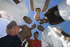 Happy Multiracial Group Of Friends With Basketball Stock Photos