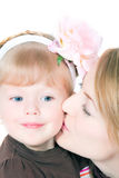 Happy mum with the babe Royalty Free Stock Photos