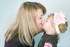 Happy mum with the babe Royalty Free Stock Images