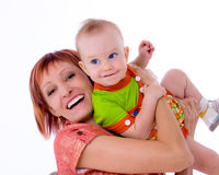 Happy mum with baby Stock Images