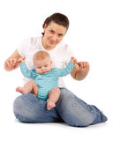 Happy mum with child Stock Images