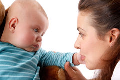 Happy mum with child Stock Image