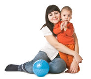 Happy mum and child Royalty Free Stock Photography