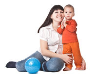 Happy mum and child Stock Photography