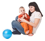Happy mum and child Royalty Free Stock Image