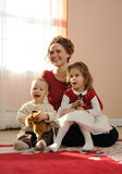 Happy mum with children Royalty Free Stock Photos