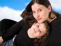 Happy mum and daughter Stock Photography
