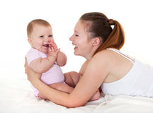 Happy mum with daughter. Stock Image