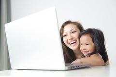 Happy Mum & Daughter Stock Image