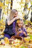 Happy mum and the daughter Stock Photos