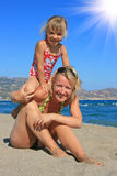 Happy mum with a daughter Royalty Free Stock Images
