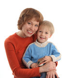 Happy mum with the son Royalty Free Stock Images