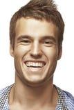 Happy muscular athlete man Stock Image