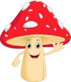 Happy mushroom cartoon Stock Image