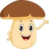 Happy mushroom cartoon Stock Photography