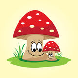 Happy mushrooms Stock Photography