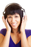 Happy with music Royalty Free Stock Photography