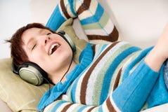 Happy music Stock Photo