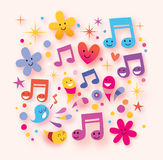 Happy music background Royalty Free Stock Images