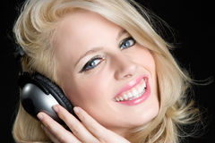 Happy Music Girl Stock Images
