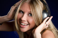 Happy Music Girl Stock Photos