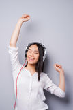 Happy music lover. Stock Photos