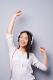 Happy music lover. Stock Photos