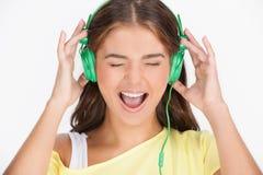 Happy music lover. Stock Image