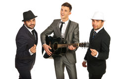 Happy musical band stock photography