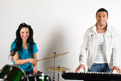 Happy musical band Royalty Free Stock Photos