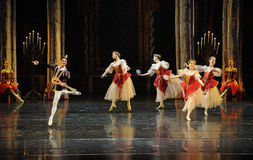 Happy musicians-The prince adult ceremony-ballet Swan Lake Stock Photos