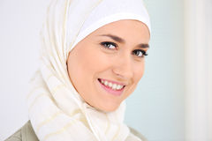 Happy Muslim beautiful woman Royalty Free Stock Image
