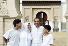 Happy muslim family Royalty Free Stock Photography