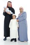 Happy Muslim family stock photo