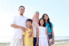 Happy muslim family Stock Image