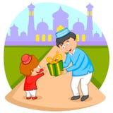 Happy muslim family celebrating Eid Royalty Free Stock Image