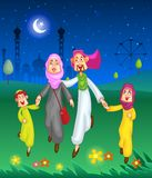 Happy muslim family celebrating Eid Royalty Free Stock Image
