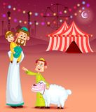 Happy muslim family celebrating Eid Royalty Free Stock Images